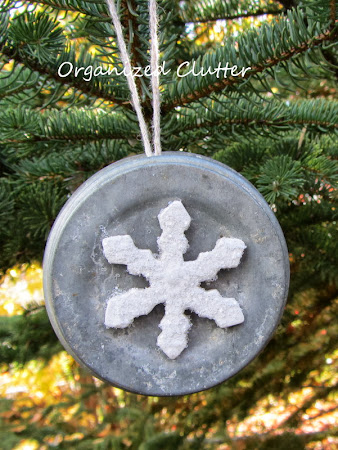 Zinc Jar Lid Christmas Tree Ornament