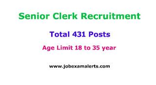 Senior Clerk Recruitment