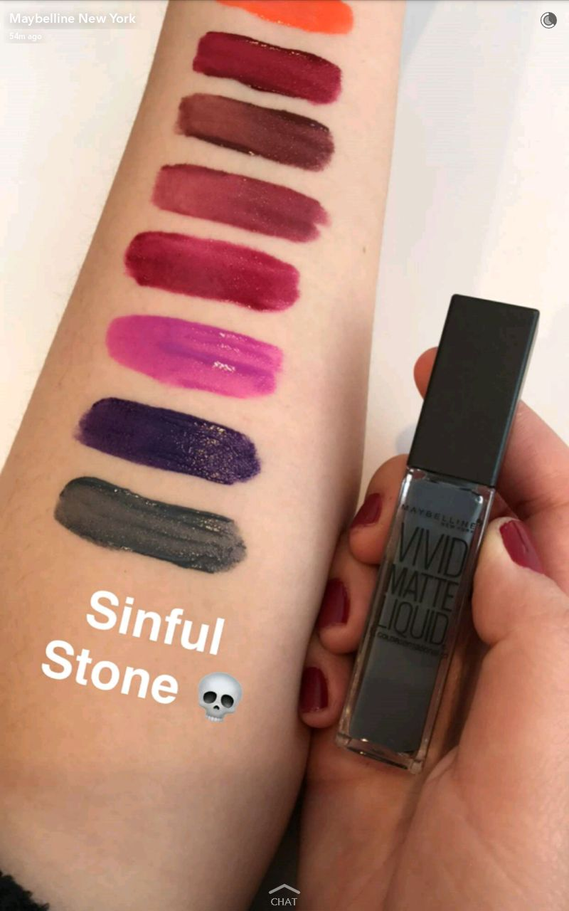 maybelline new vivid matte liquid lipstick swatches 11 sinful stone
