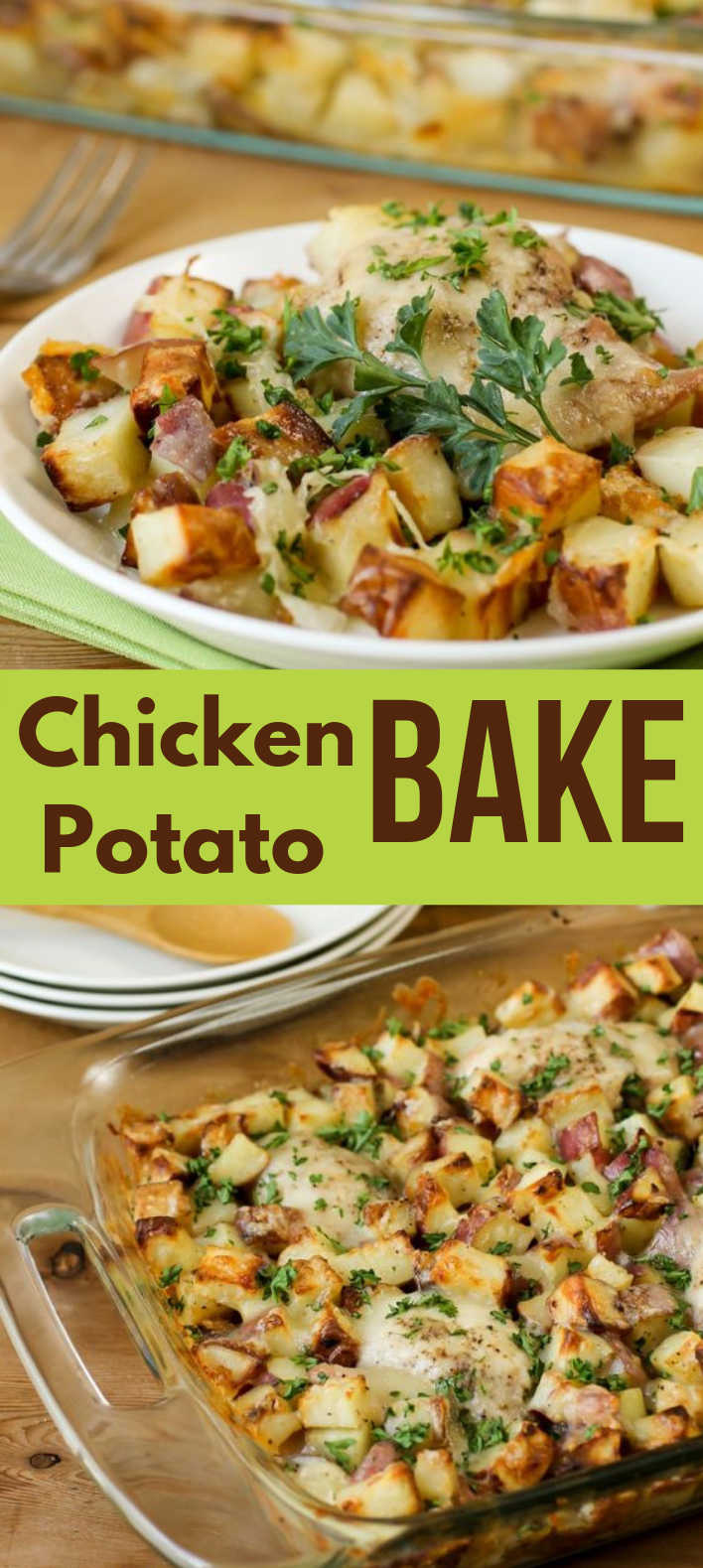 CHICKEN POTATO BAKE #Chicken #Potato