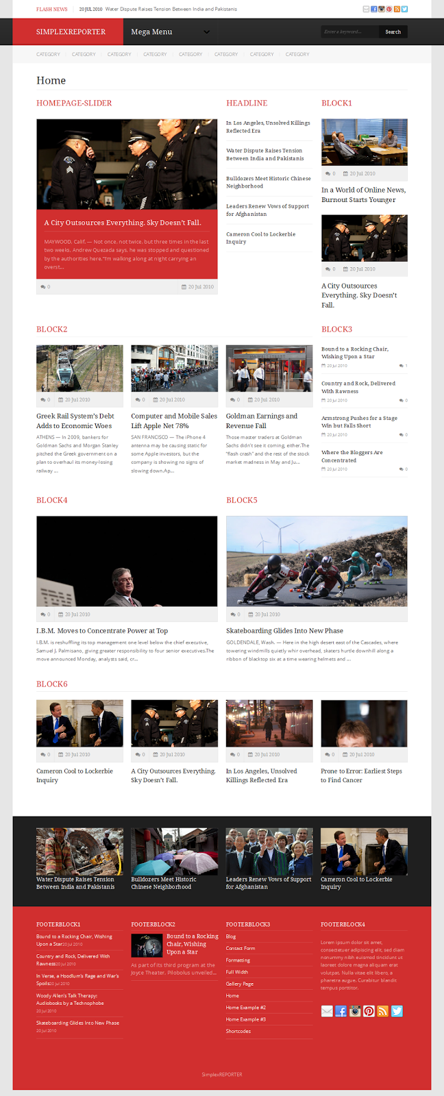 Simplex-Reporter Responsive Blogger Template