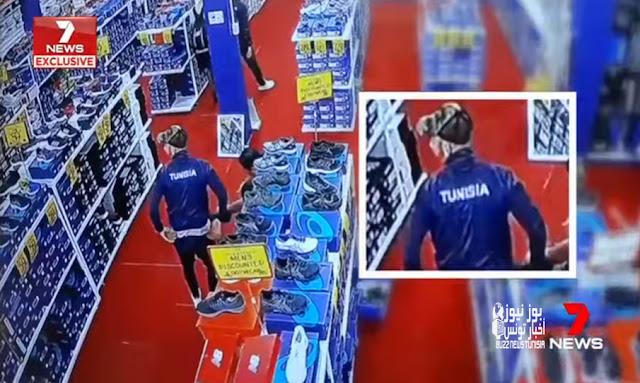 كاميرا مراقبة تضبط لاعبين من المنتخب التونسي بصدد سرقة أحذية رياضية (فيديو)