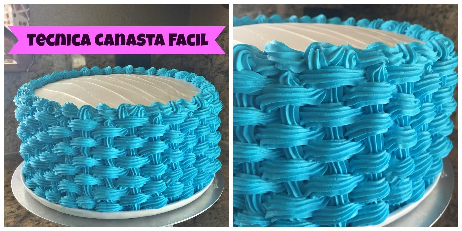 Como decorar un pastel t cnica super f cil canasta en un pastel de chantilly web del - Decorar cestas de mimbre paso a paso ...