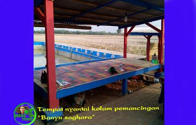 Tempat nyantai kolam pemancingan BANYU SAGHARA.