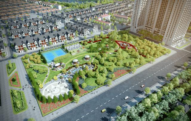 Công viên xanh dự án ANLAND Nam Cường