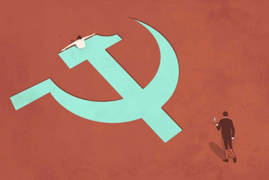The Absurdities of Life in the 21st Century Captured in Powerful Illustrations - From Communism To Capitalism