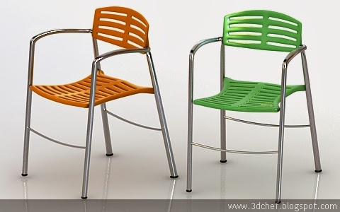 free 3d model cafetaria chair