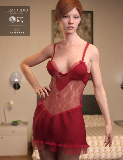 Lace Nights for Genesis 3 Female