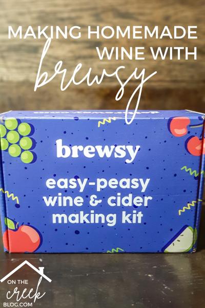 Making homemade wine with Brewsy wine making kit! | www.onthecreekblog.com