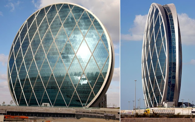 Aldar headquarters building in Abu Dhabi