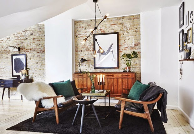 Rustic And Retro Danish Apartment