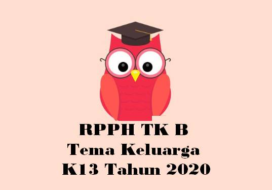 RPPH TK B Tema Keluarga K13 Tahun 2020