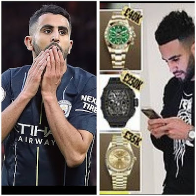 Manchester City's Riyad Mahrez Loses Three Luxury Watches To Thieves In £500,000 Raid At His Penthouse