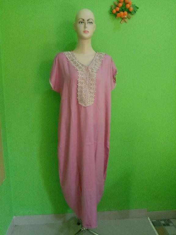 Jual Daster Arabian Dusty Pink Lengan Pendek Terbaru