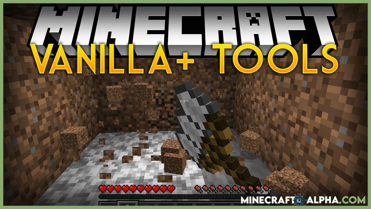 Minecraft Vanilla Plus Tools Mod 1.17.1/1.16.5 (Super 3×3 Tools)
