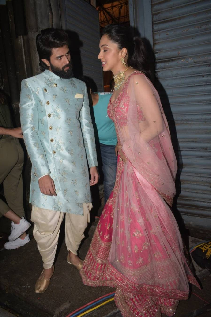Glamorous Indian Actress Kiara Advani In Pink Lehenga Choli