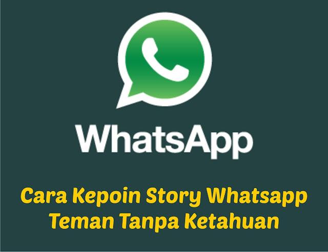 Cara Kepoin Story Whatsapp Teman Tanpa Ketahuan