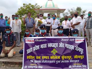 स्कूली बच्चों को मास्क, सेनेटाइजर व साबुन वितरित   #NayaSaveraNetwork