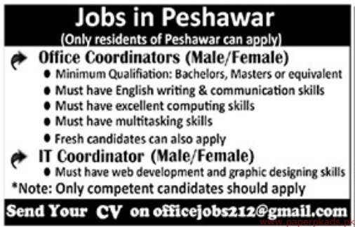 Peshawar Private Sector Jobs 2019 Latest
