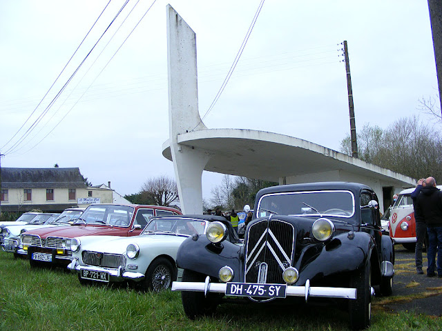 Classic car meet, Indre et Loire, France. Photo by Loire Valley Time Travel.