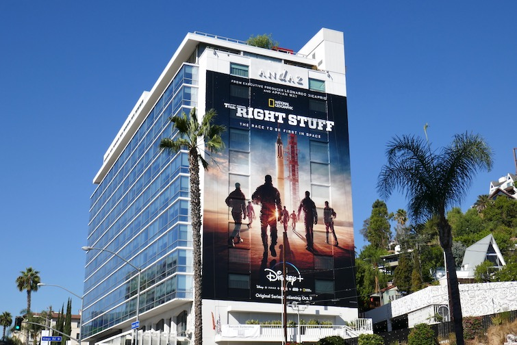 Right Stuff giant TV remake billboard