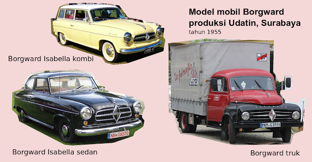 Mobil Borgward produksi Udatin Indonesia