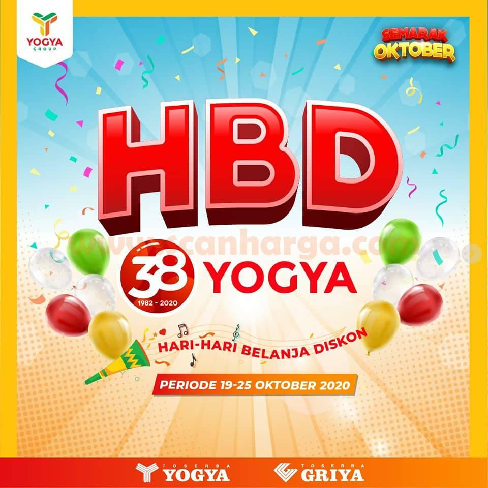 Promo Toserba Yogya HBD Hemat Hari-Hari Belanja Diskon 19 - 25 Oktober 2020