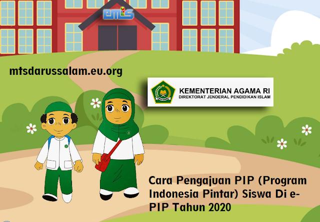 Cara Pengajuan PIP (Program Indonesia Pintar) Siswa Di e-PIP Tahun 2020