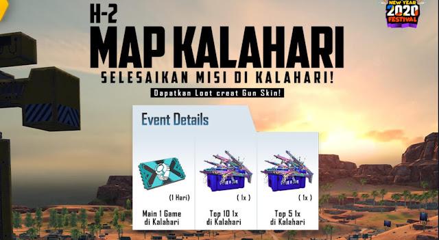 Event Map Kalahari 2020 Free Fire Berhadiah Skin Gratis