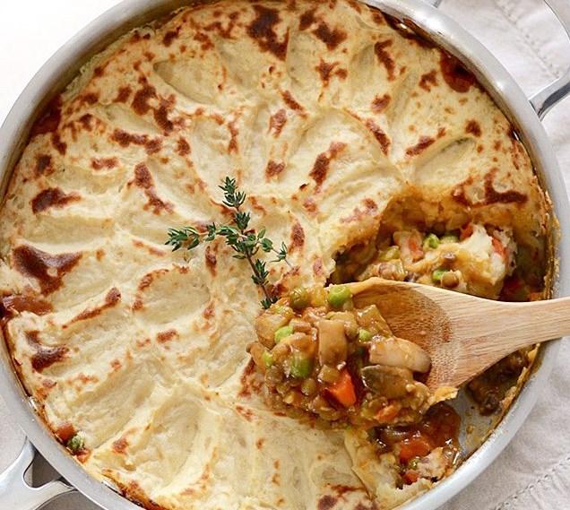 VEGETARIAN SHEPHERD'S PIE #Vegetarian #Pie