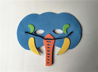 foami de  máscara de elefante