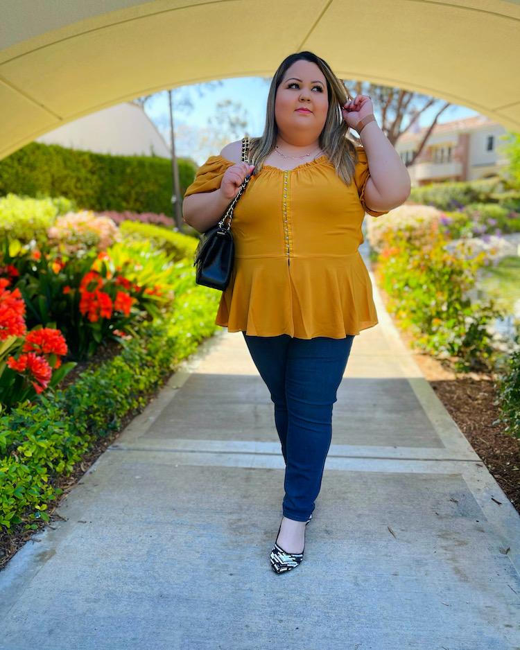 Plus Size Yellow Outfit Moda Para Gorditas 2021