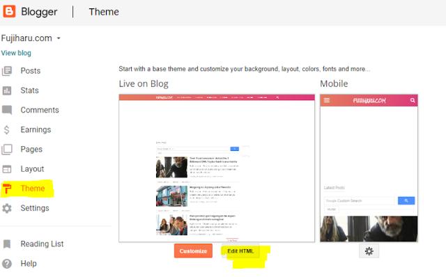 Cara memasang iklan sticky di bawah desktop