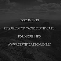 Documents Required For Caste Certificate
