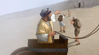 Desenho bíblico povo sofre