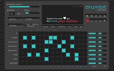 drumbit-cara membuat beat hip hop secara online