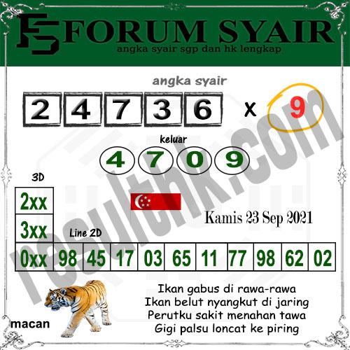 Forum Syair SGP Kamis 23 September 2021