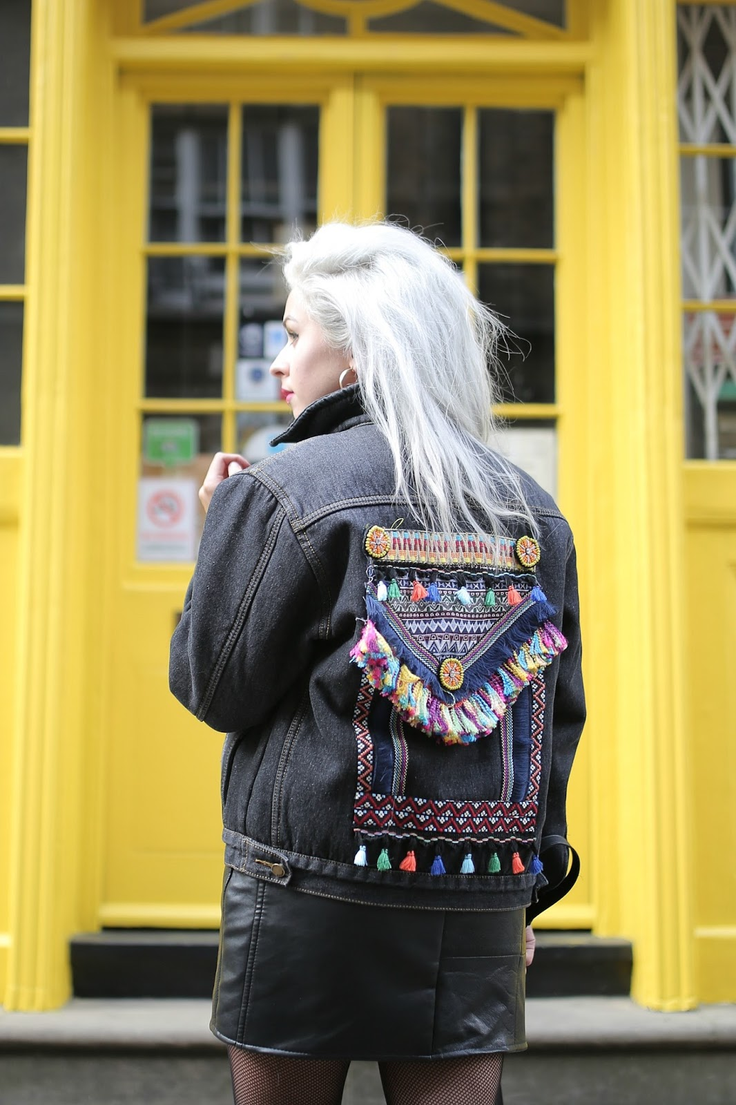 BOOHOO STATEMENT DENIM JACKET