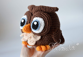Krawka: Cute crochet owl pattern by Krawka: forest owl, crochet animals, cute toy amigurumi