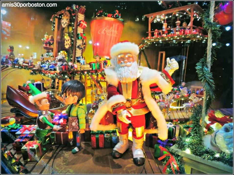 Escaparates de Navidad en Nueva York: Santa en el Macy´s