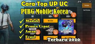 Cara Mudah Top Up UC PUBG Mobile Korea