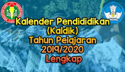 Kaldik Tahun Pelajaran 2019/2020 Terbaru