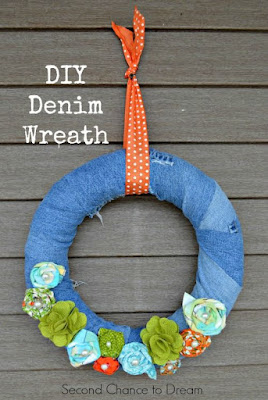 http://secondchancetodream.com/2015/04/diy-denim-wreath.html