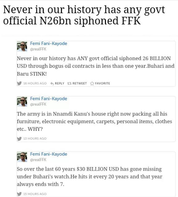 President Buhari's regime is corrupt, $30billion missing – Fani Kayode