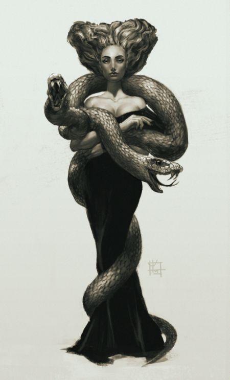Alena YMhin artstation arte ilustrações fantasia terror