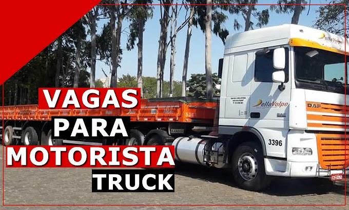 Transportadora Della Volpe abre vagas para Motorista Truck