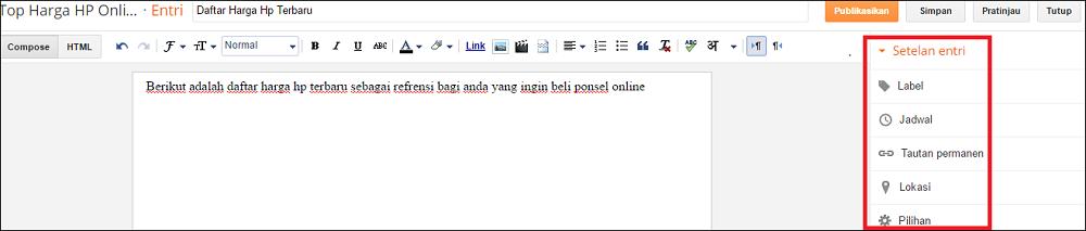 cara membuat blog 4