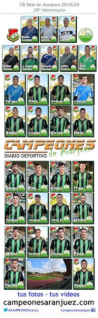 Fútbol Plantilla Sitio Aranjuez 2019/20