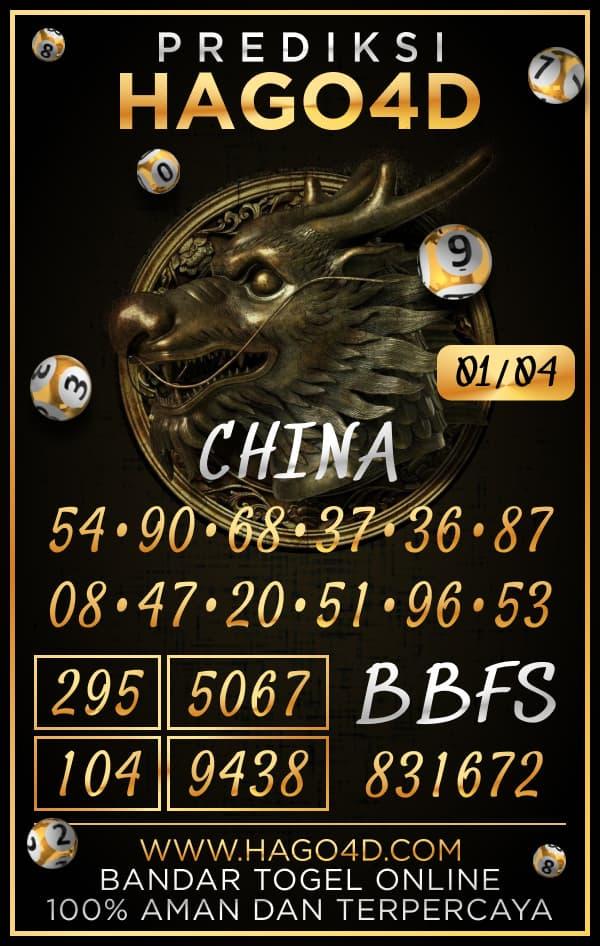 Prediksi Hago4D - Kamis, 1 April 2021 - Prediksi Togel China
