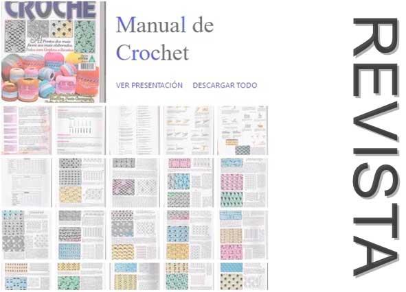 revista, puntos, crochet, ganchillo